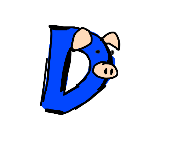 Drawception D is now a pig