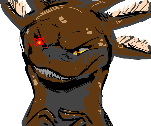 Brown axolotl with murderous thoughts