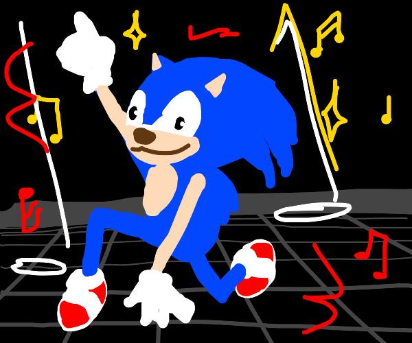 sonic on the dance floor