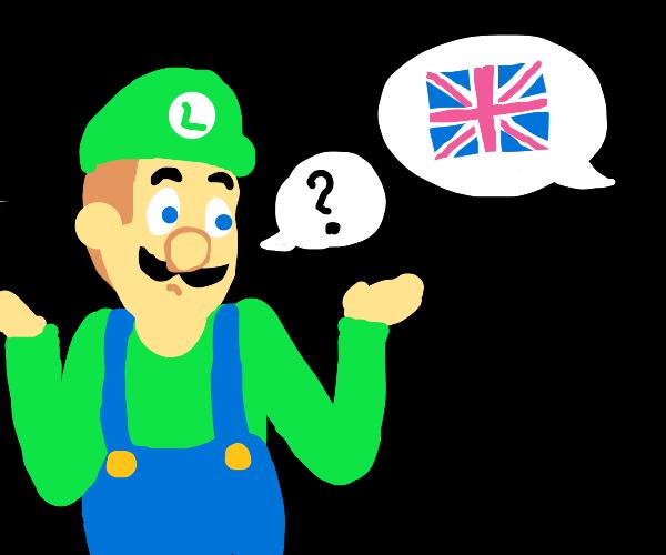 luigi dosen't understand english
