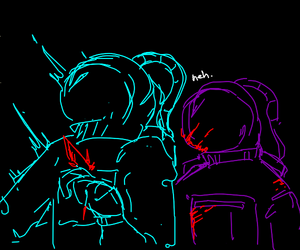 Purple killed cyan