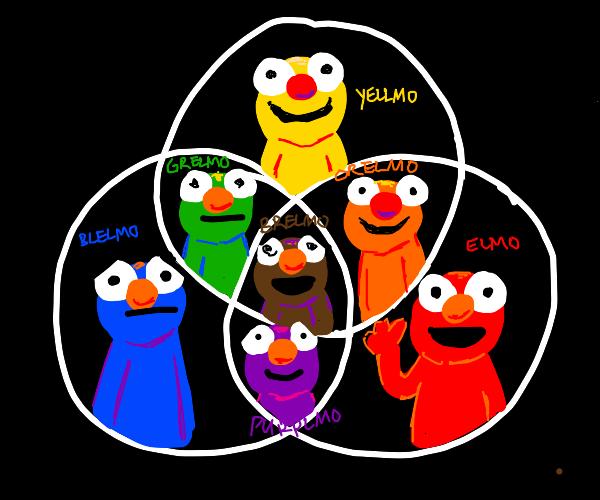 The color group of Elmos (Like Yellmo&Grelmo)
