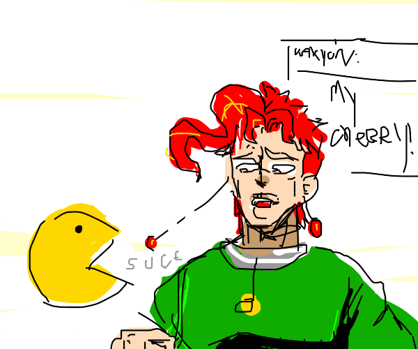 Pacman steals Kakyoin's cherries