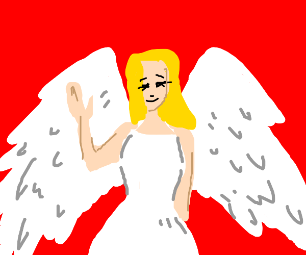 hot angel with hot wings