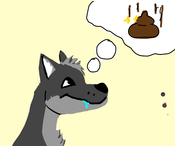 Wolf hungry for poop