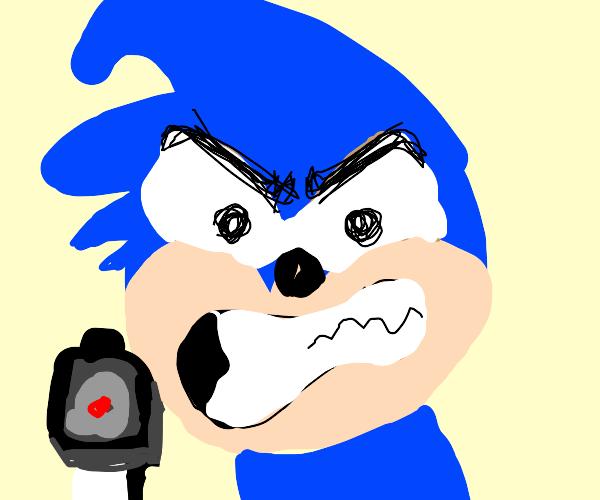 Sonic w/ gun