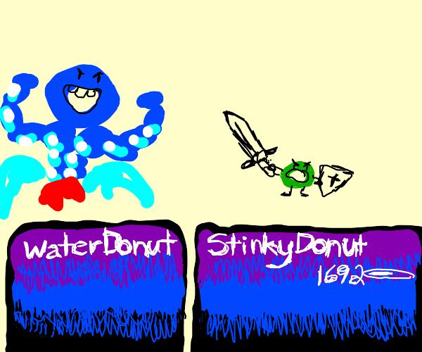 Stinky donut vs. water donut