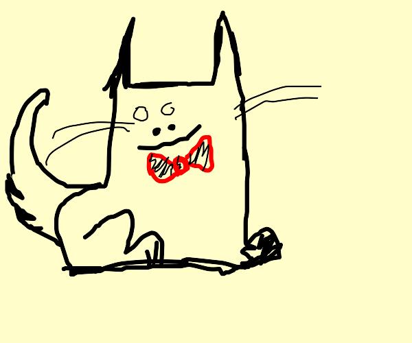 Cat with bowtie