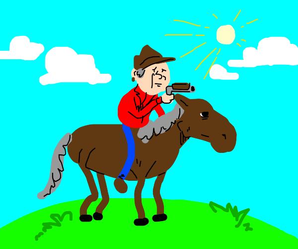 elderly cowboy