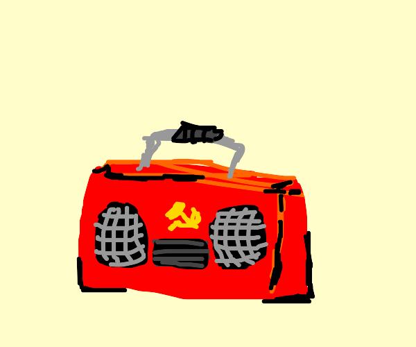 Soviet propaganda boom box