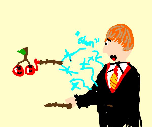 Ronald Weasley is stunned by cherries.