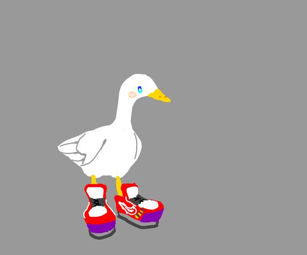 cute goose has drip