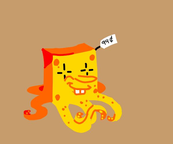 $0.99 clown-eyed tentacle spongebob
