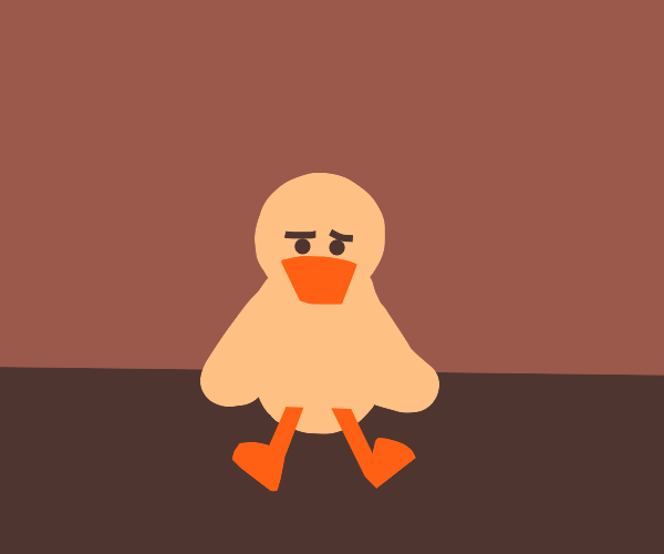 a lonely little duck