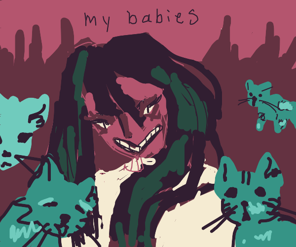 Evil cat mom in hell