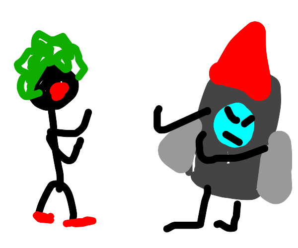 Clown-man vs Rocket-man