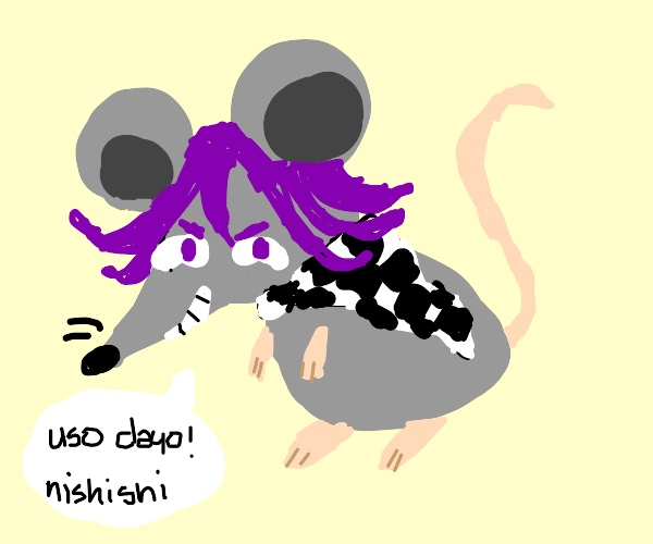 kokichi is a rat (funny original joke xd)