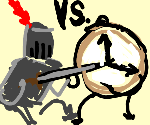 Knight fights Time