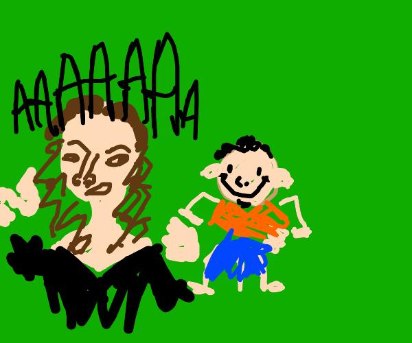 Natalie Portman runs from creepy guy
