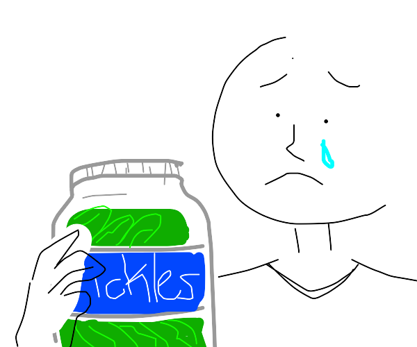 That moment when u fail to open a pickle jar