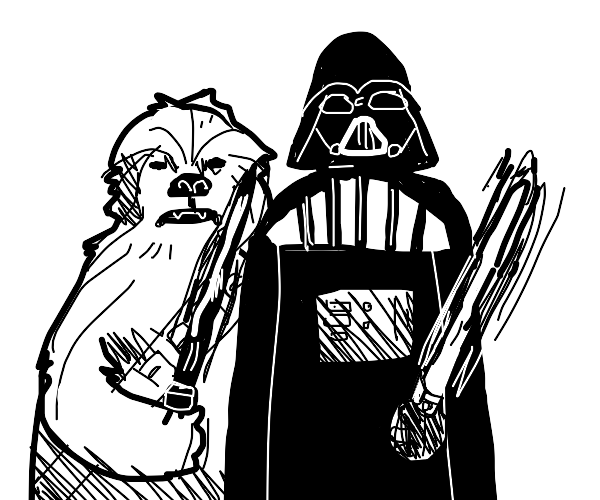 Darth Vader takes Chewbacca as an apprentice