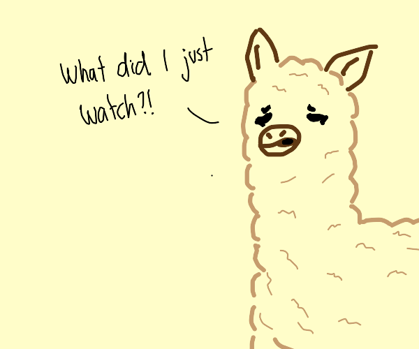 Mentally disturbed Llama
