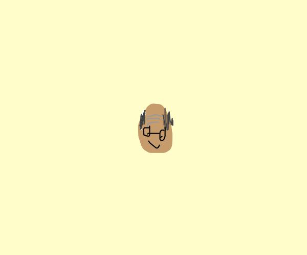 Balding old man