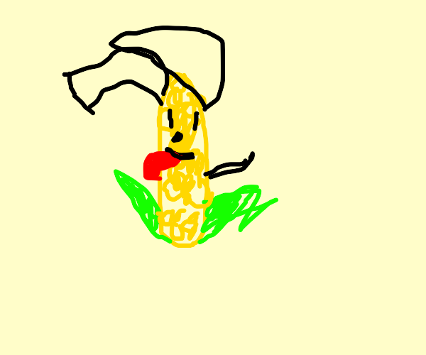 Corn with dog ears
