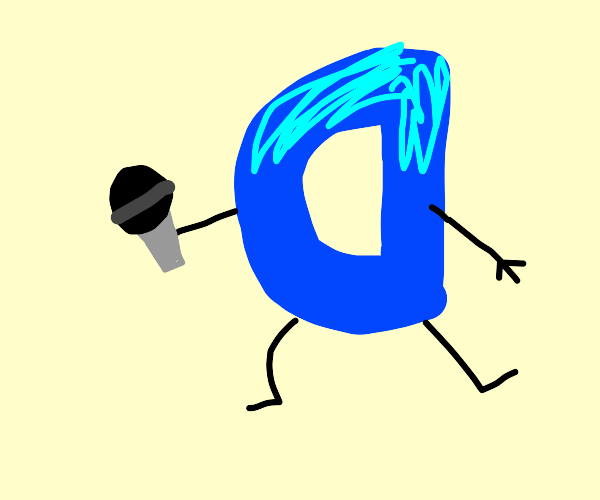 The Drawception D mascot thing is a kpop star