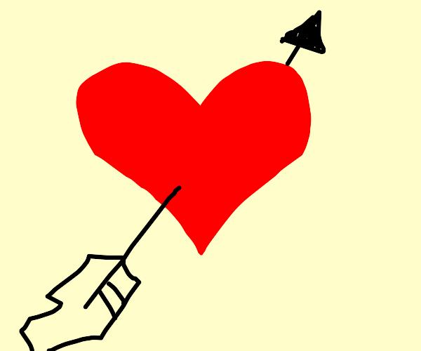 arrow in heart