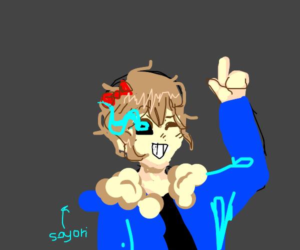 Sayori as Sans Undertale
