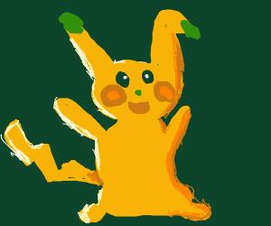 A happy Pikachu