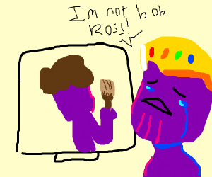 thanos looks at memes about him and cries