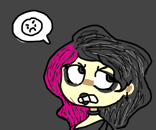 Angry goth