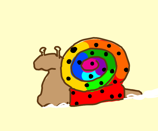 Polka-dot rainbow snail
