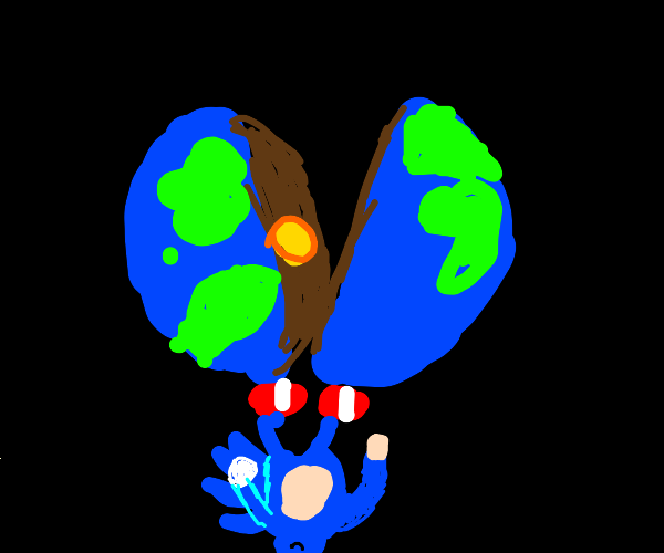 Sonic broke the earth in half