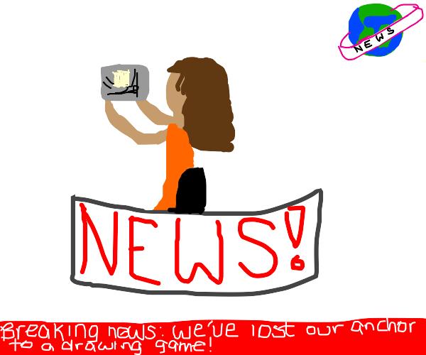 News Anchor playing Drawception