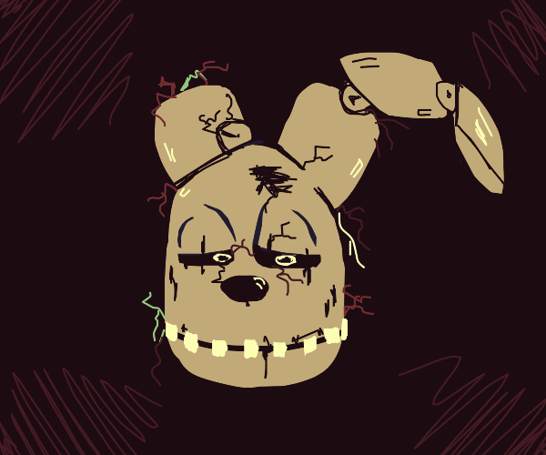 springtrap's head from FNAF