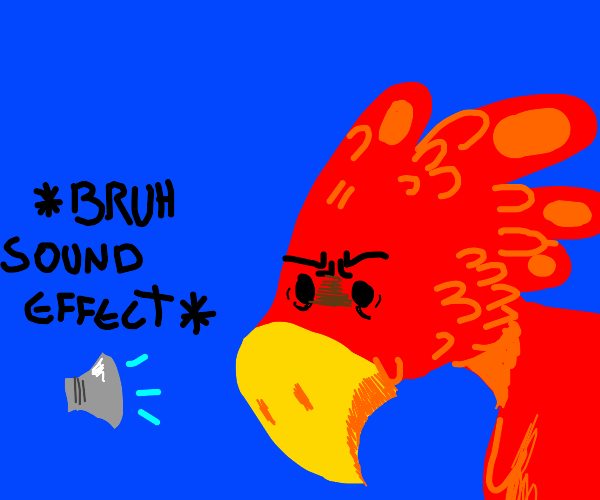 Concerned exotic red bird