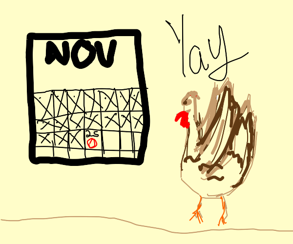 a turkey loves thanksgiving for some reason