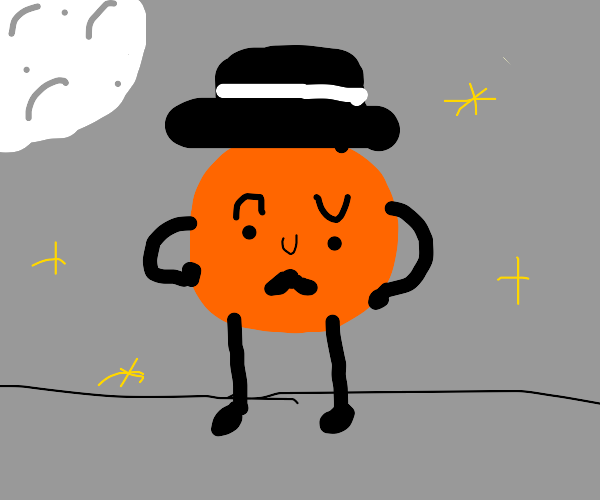 dapper orange ready for a night on the town