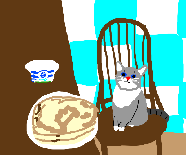 kitty is ready for psncakes