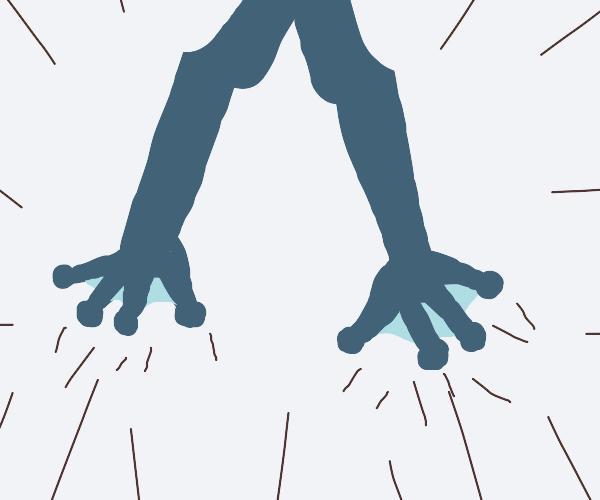 Giant frog feet