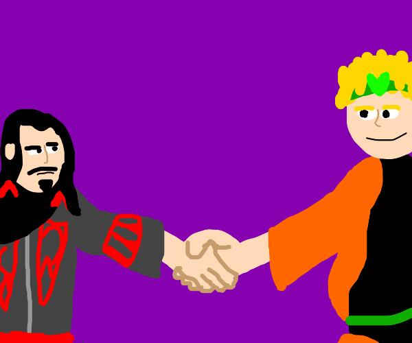 Dracula (Castlevania) meets DIO (JJBA)