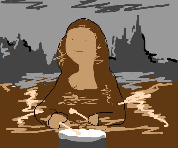 Mona Lisa drumming