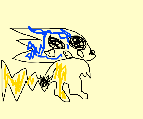 Sonichu the Electric Hedgehog Pokemon