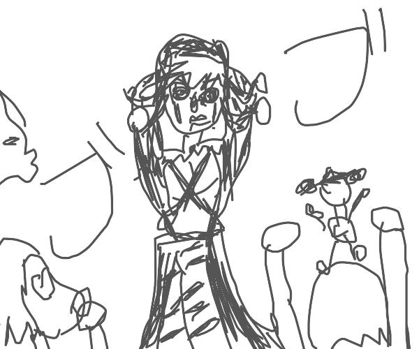 Risotto Nero and his fangirls (jojo)