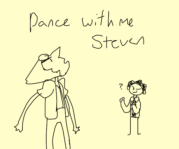 angery pearl asking steven to dance
