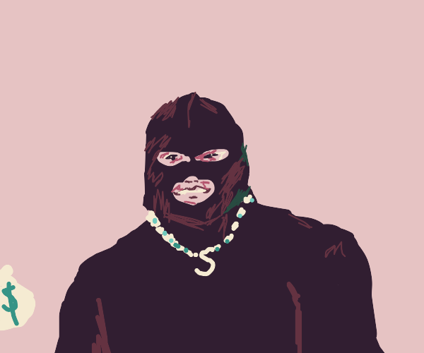 a robber but wearing his luxury goods