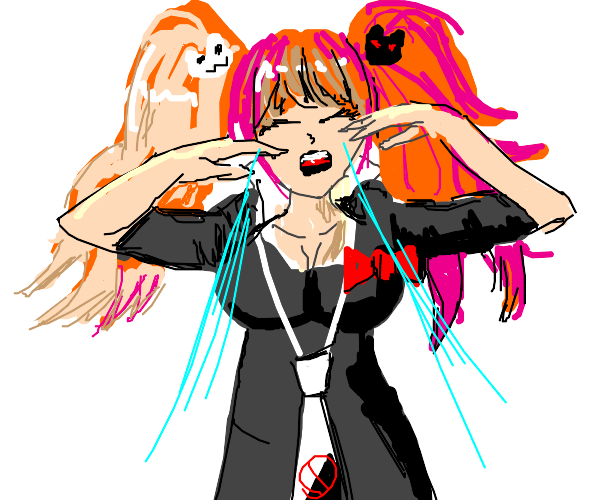 Junko is crying :(